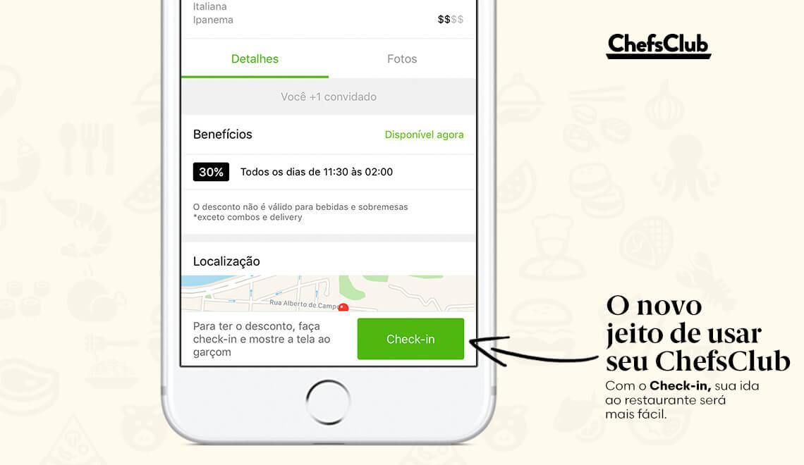 Check-in: uma nova forma de usar o seu ChefsClub